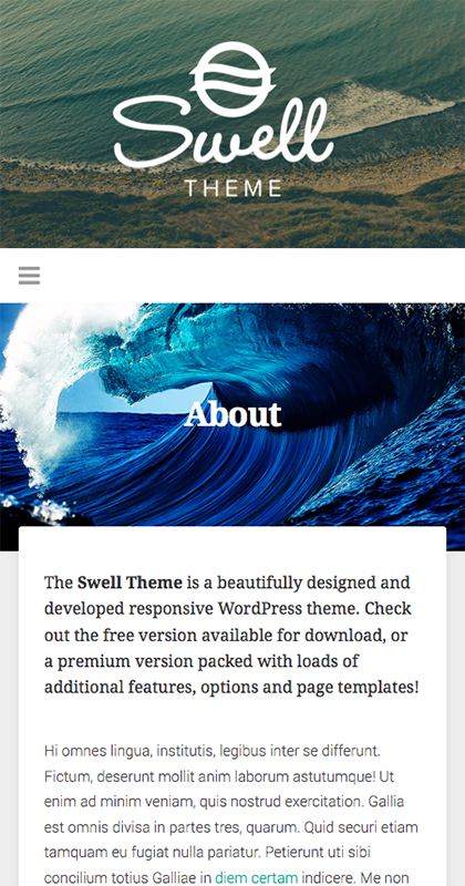 Swell Theme Mobile